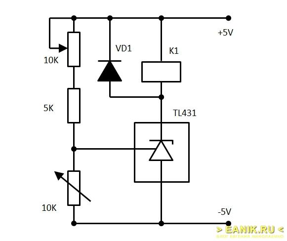Пинципиальная схема термореле