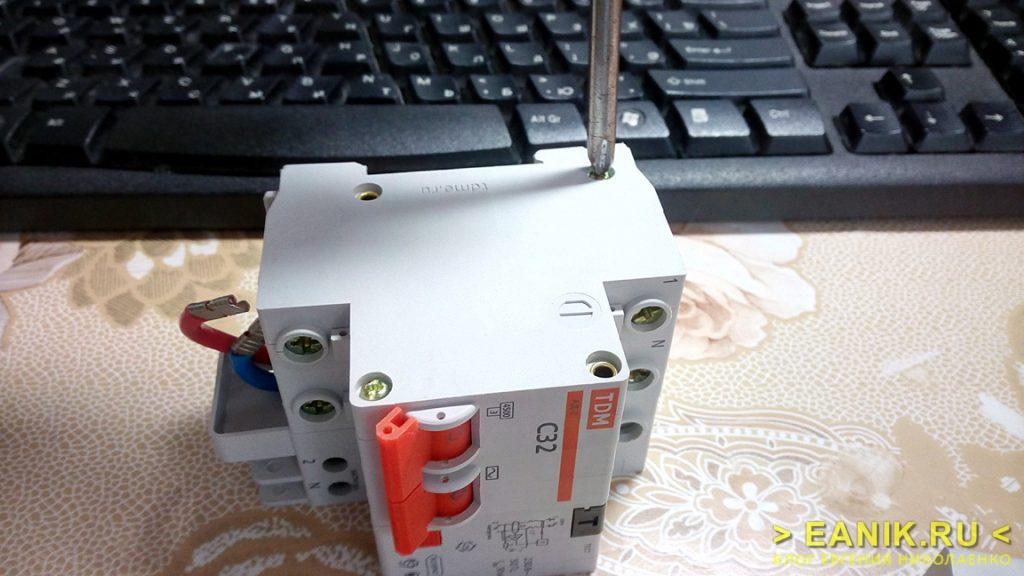 Дифференциальный автомат АД-2 фирмы TDM Electric разборка
