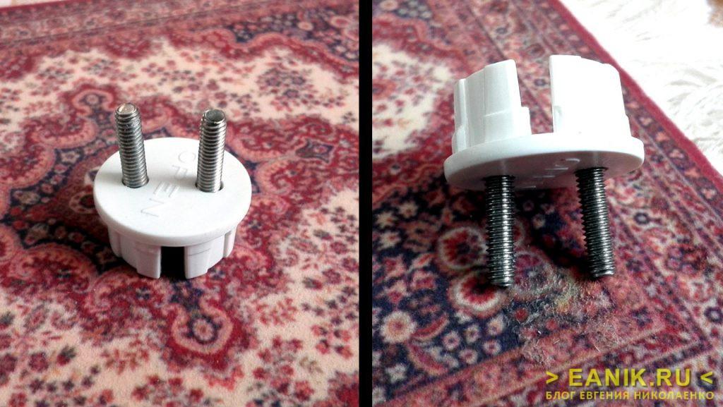 Винты М4 в крышке датчика воды