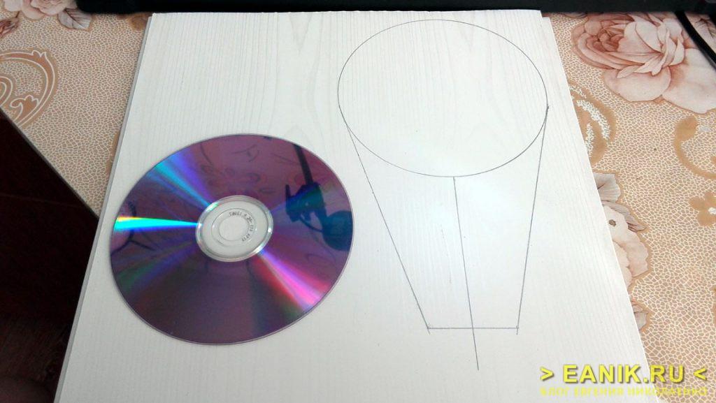 Компакт-диск в качестве шаблона для заслонки