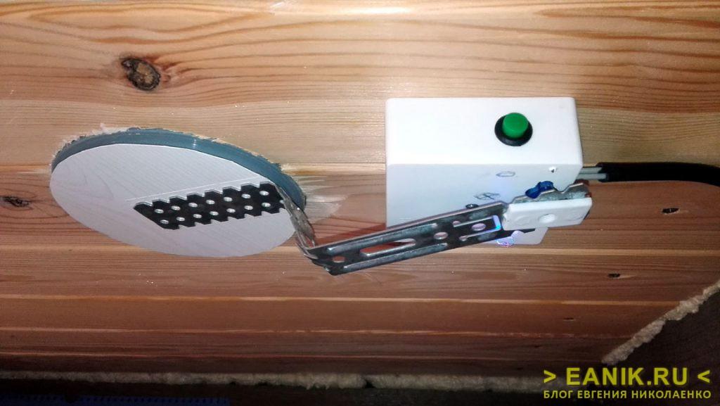 Автоматическая заслонка на базе ардуино закрывает вентиляционное отверстие