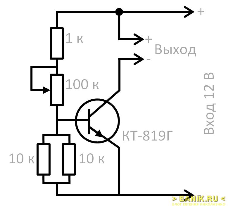 Схема регулятора яркости для светодиодной ленты