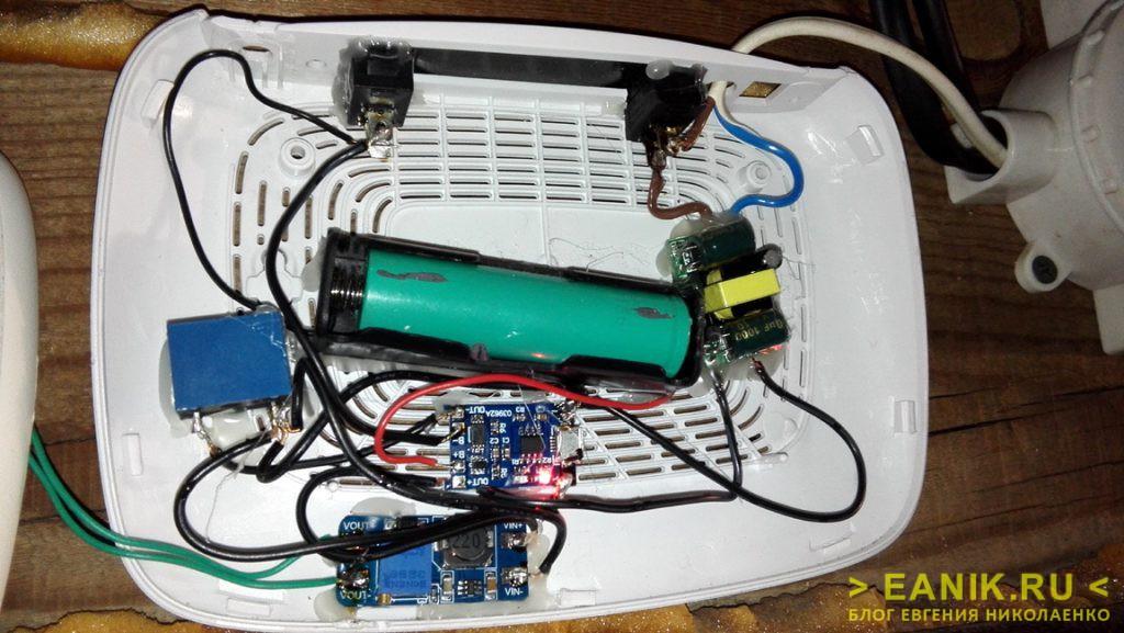 Автоматический резервный светильник - под крышкой